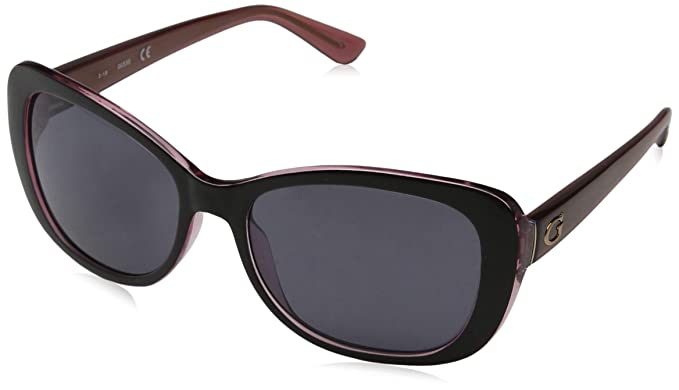 c10f0c887648 Amazon.com  Guess GU7475 05A Black GU7475 Rectangle Sunglasses Lens ...