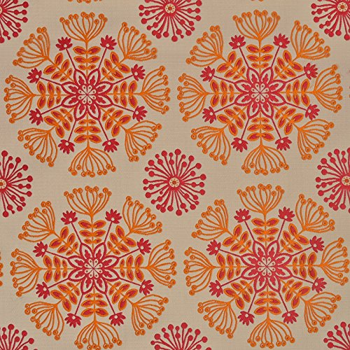 Tiger Lily Orange Pink Neutral Contemporary Modern Matelasse Upholstery Fabric by The Yard (Tiger Drapes Lily)