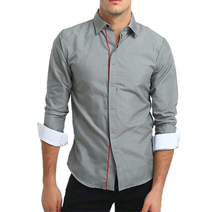 29fce8d164990 Camisa De Hombre Camisa De Cuello De Ropa Hombre para Hombres Camisas De  Corte Slim