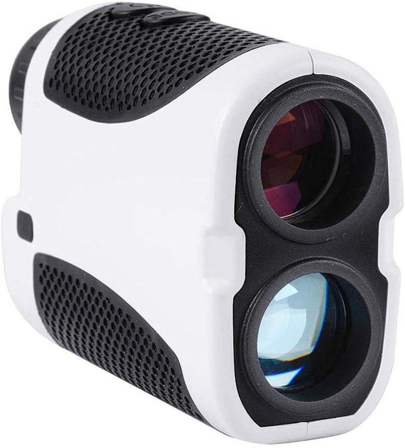BYBYC Pendiente de escaneo ángulo protable Duradero Prismáticos Golf telémetro 400M Rango Digital Buscador de Caza Caza Golf LED,Negro