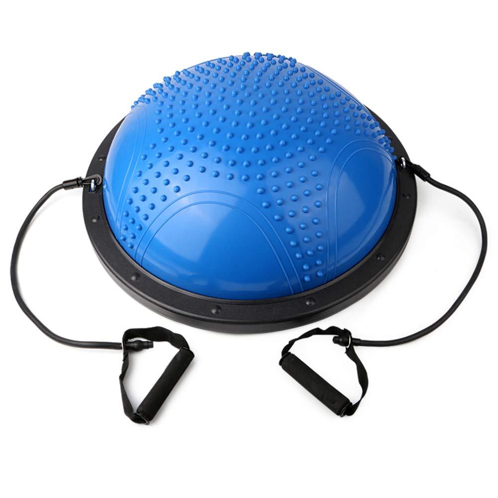 TESITE Yoga Ball Fitness Ball Gewichtsverlust Rehabilitation Training Massage HemisphäRe (Blau)
