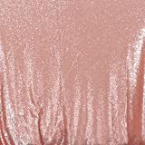 3E Home 10FT x 20FT Sequin Photography Backdrop Curtain for Party Decoration, Blush
