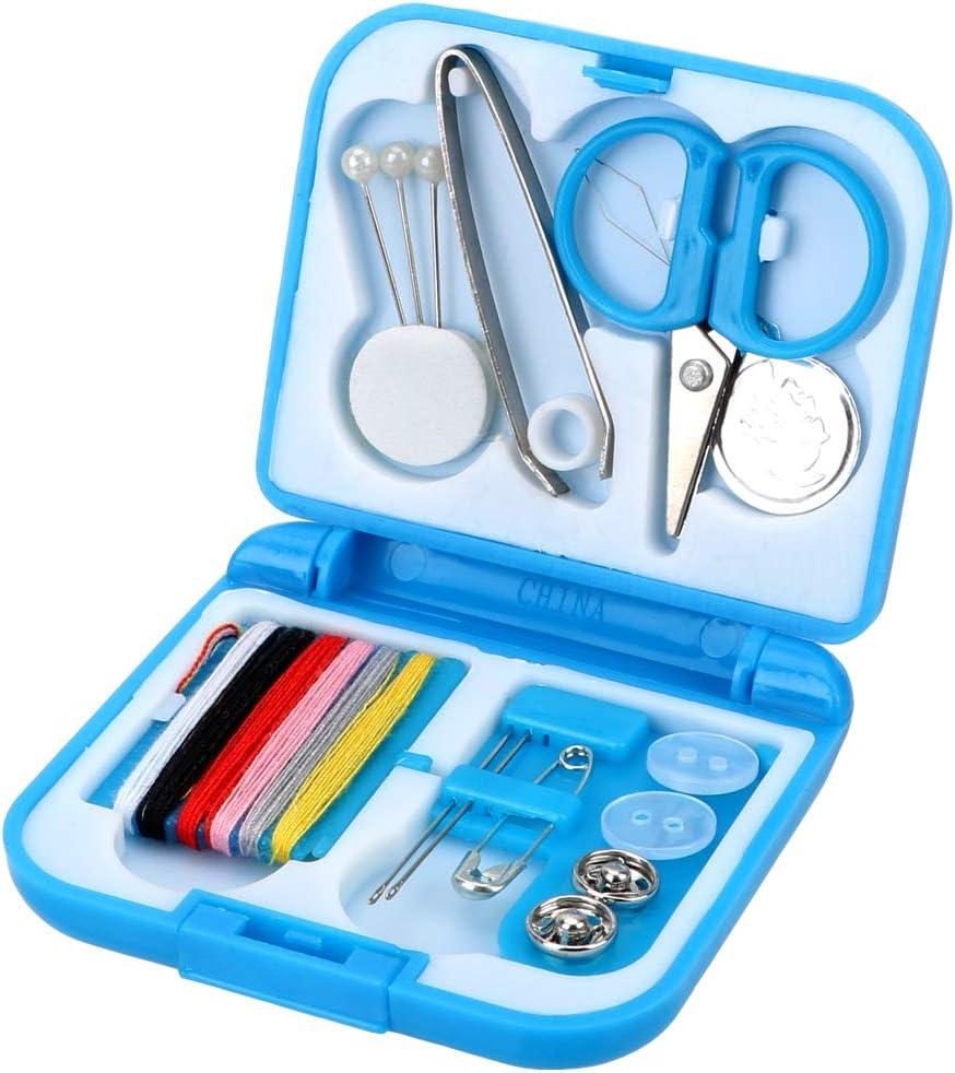 Runy DIY Kit de herramientas de mano de viaje, caja de costura, portátil, mini caja de herramientas para el hogar, kit de agujas, herramientas de bordado, manualidades: Amazon.es: Hogar