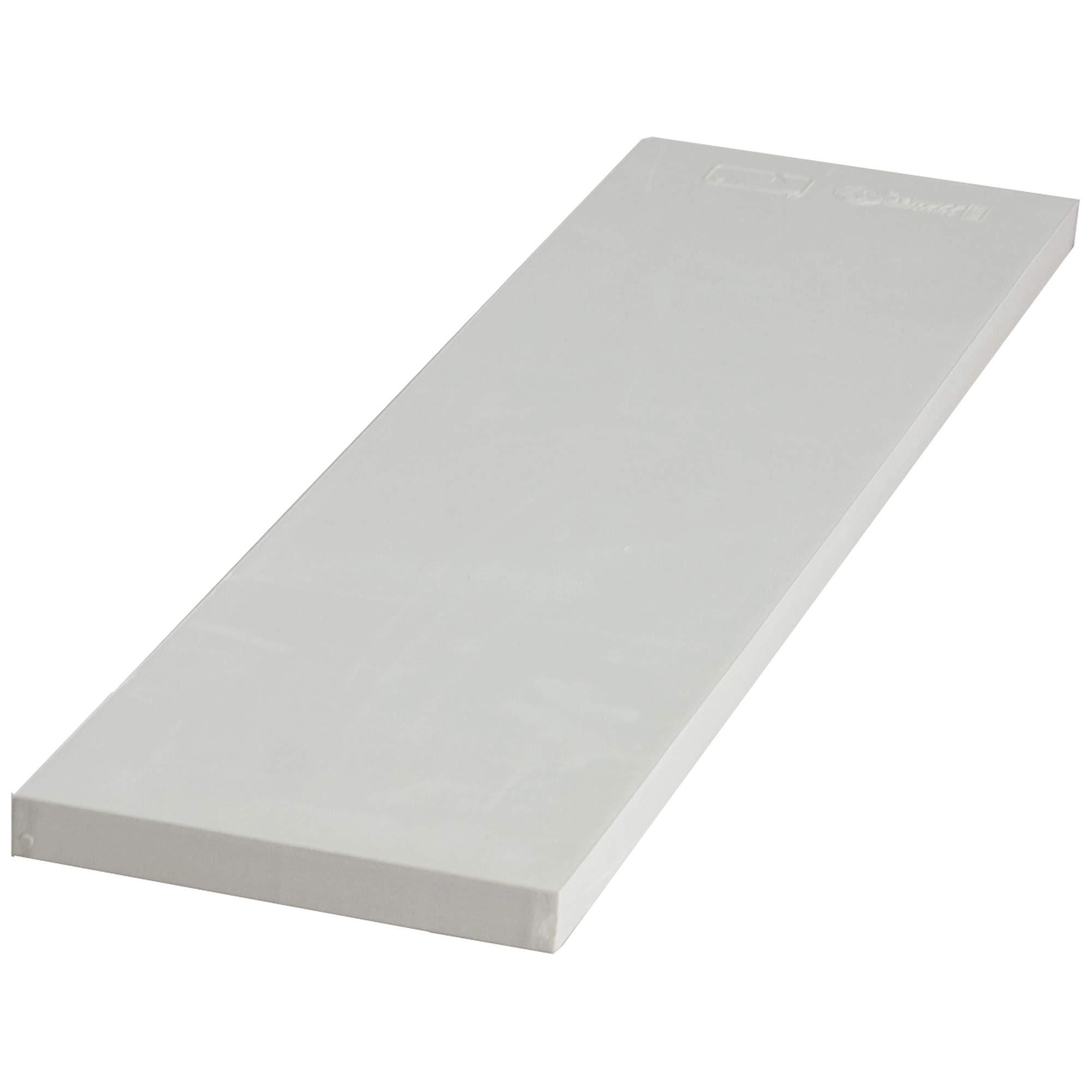 Schutt Official Spike Installed Pitch Rubber (White, 6-Inch x 24-Inch) by Schutt
