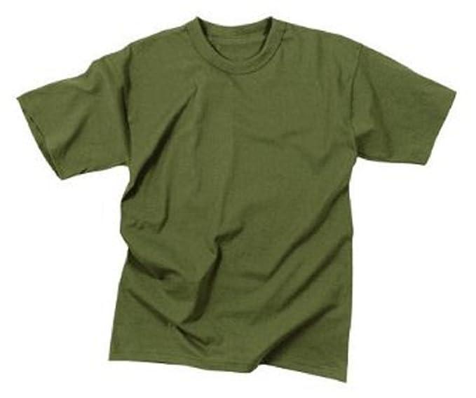 Amazon.com  Olive Drab Military T-Shirt (100% Cotton) 7979 Size ... 809c4637a