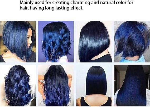 Regalo de Abril】100ml Color azul Crema para teñir el cabello ...