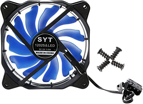 Yintiod 12025 - Ventilador para Ordenador (120 mm, LED, luz Blanca ...