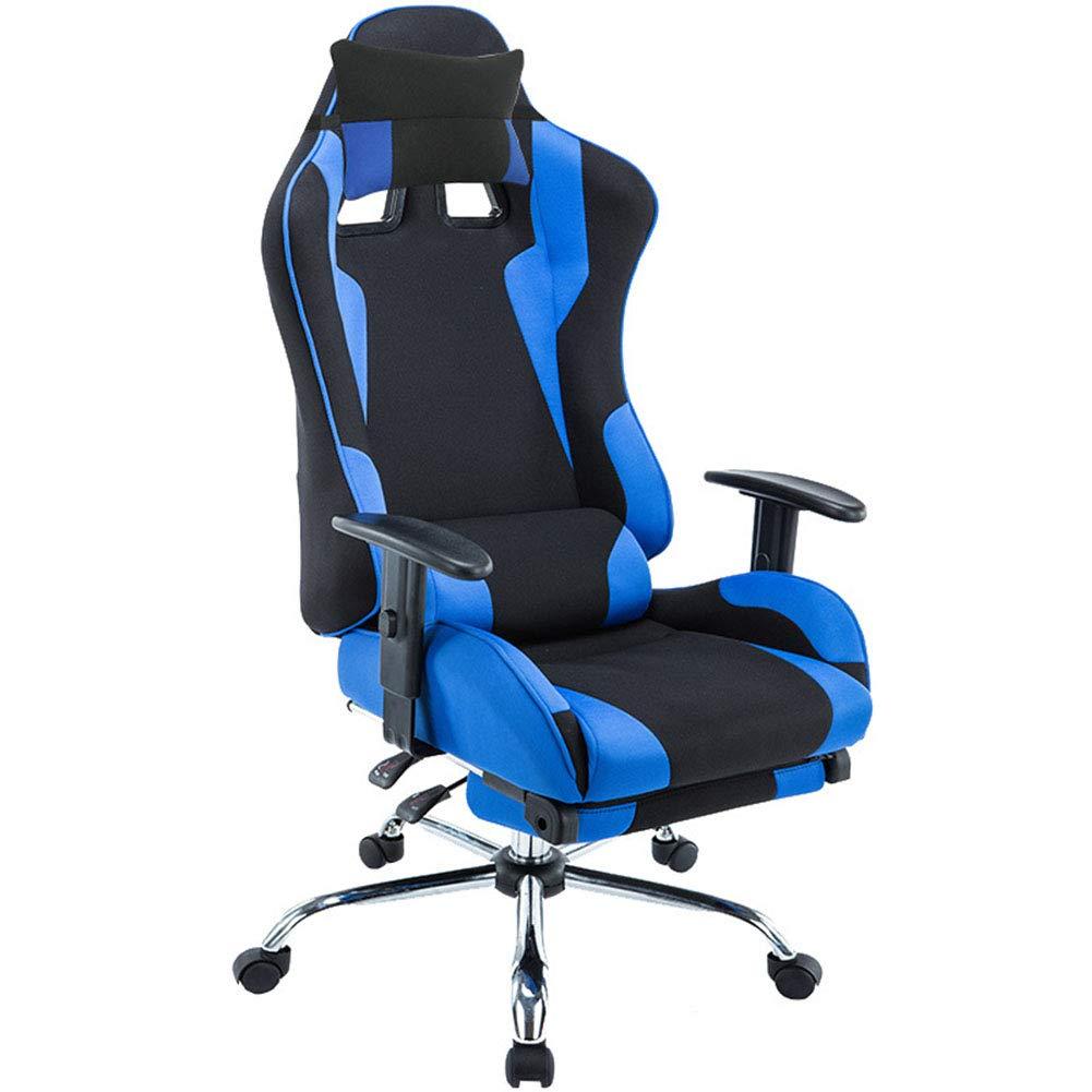 E スポーツチェア、リクライニングコンピュータチェアゲームシートサイバー椅子競争力のあるレーシングチェアオフィスチェア360度スイベルチルト機能人間工学に基づいたコンセプト耐久性と安定した B07L8PWH21