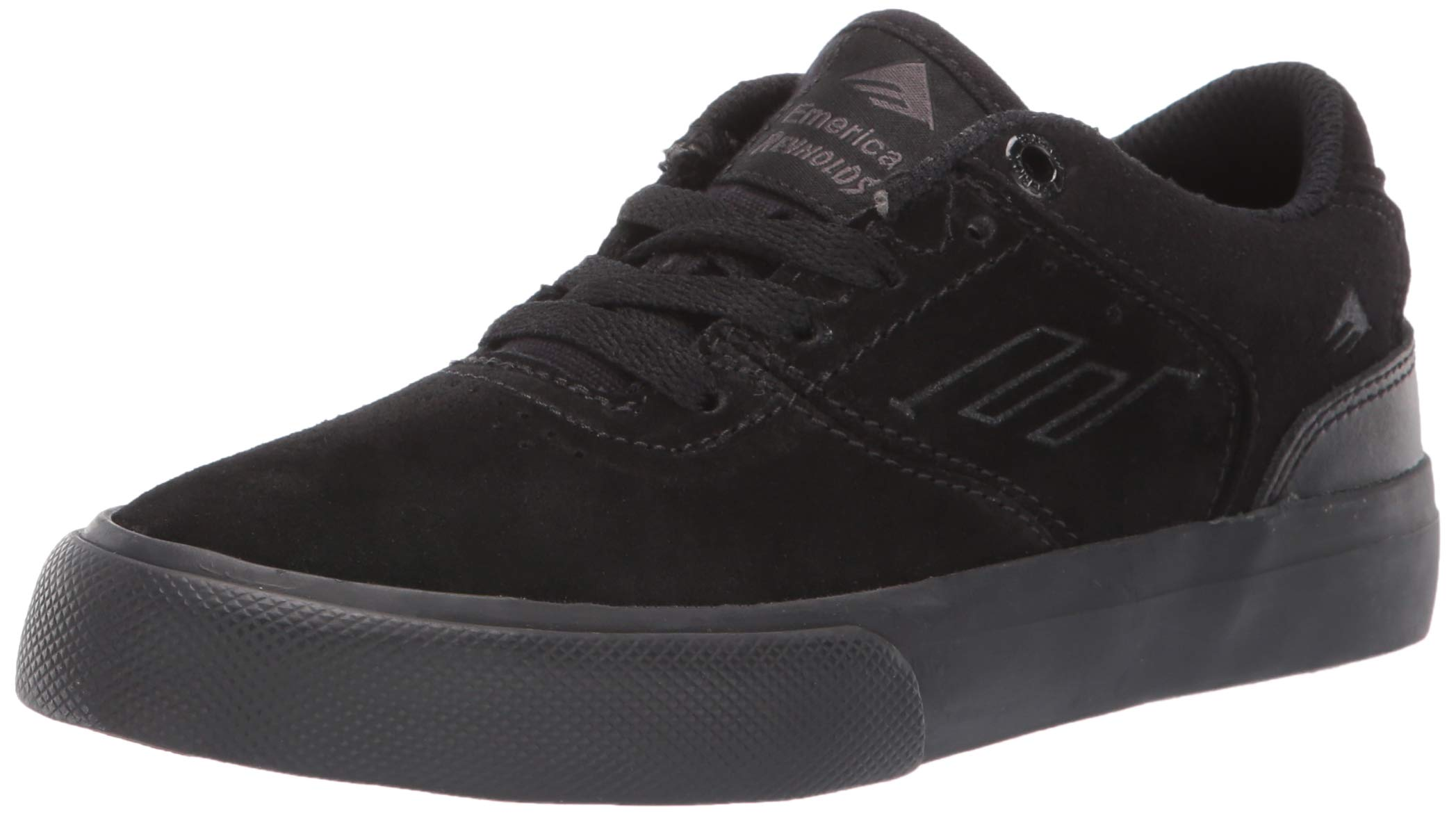 Emerica Boys' The Reynolds Low Vulc Youth Skate Shoe, Black, 2C Medium US Big Kid