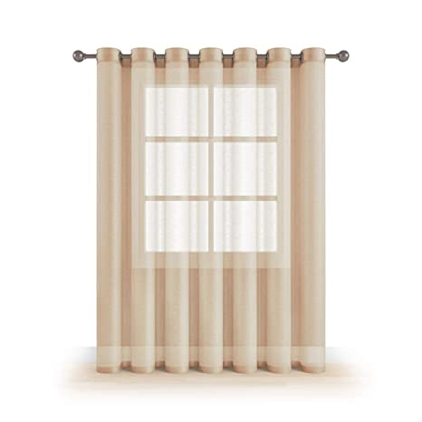 Grommet Semi Sheer Luxury 1 Double Wide Curtain Panel Window Home Decor And  Upscale Design Light