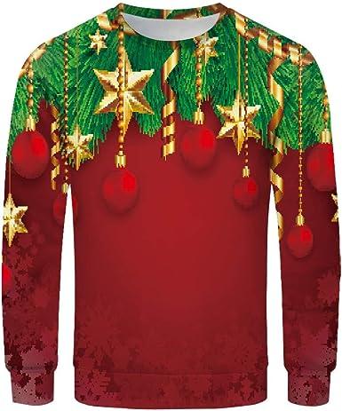 Goosun Jersey Navidad Pareja Suelta Suéter De Cuello Redondo ...
