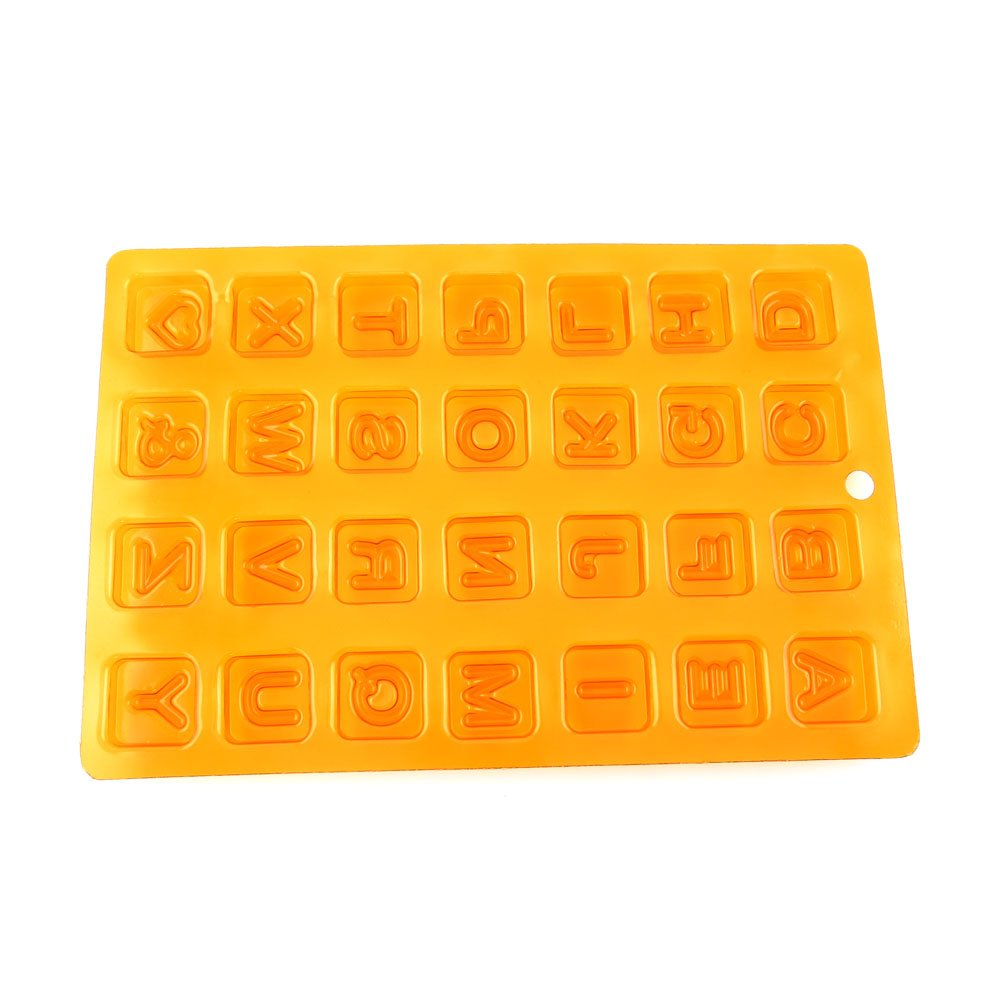 100 PCS Chocolate Molds Baby Shower Candy Making Supplies Jelly Maker Wholesale SM054 Letter Squares
