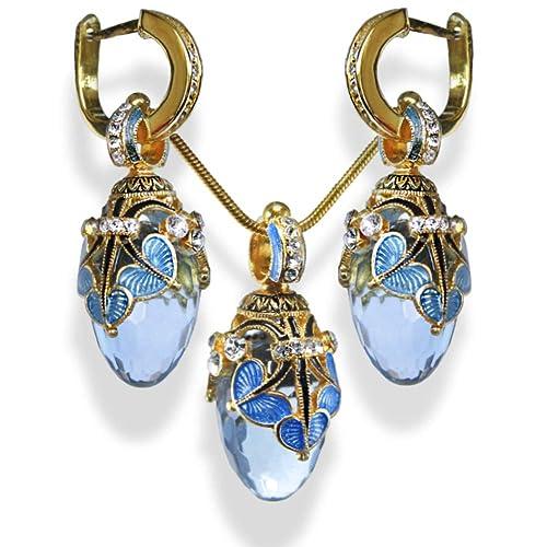 925 Sterling Silver /& Blue Cubic Zirconia Designer Inspired Earrings