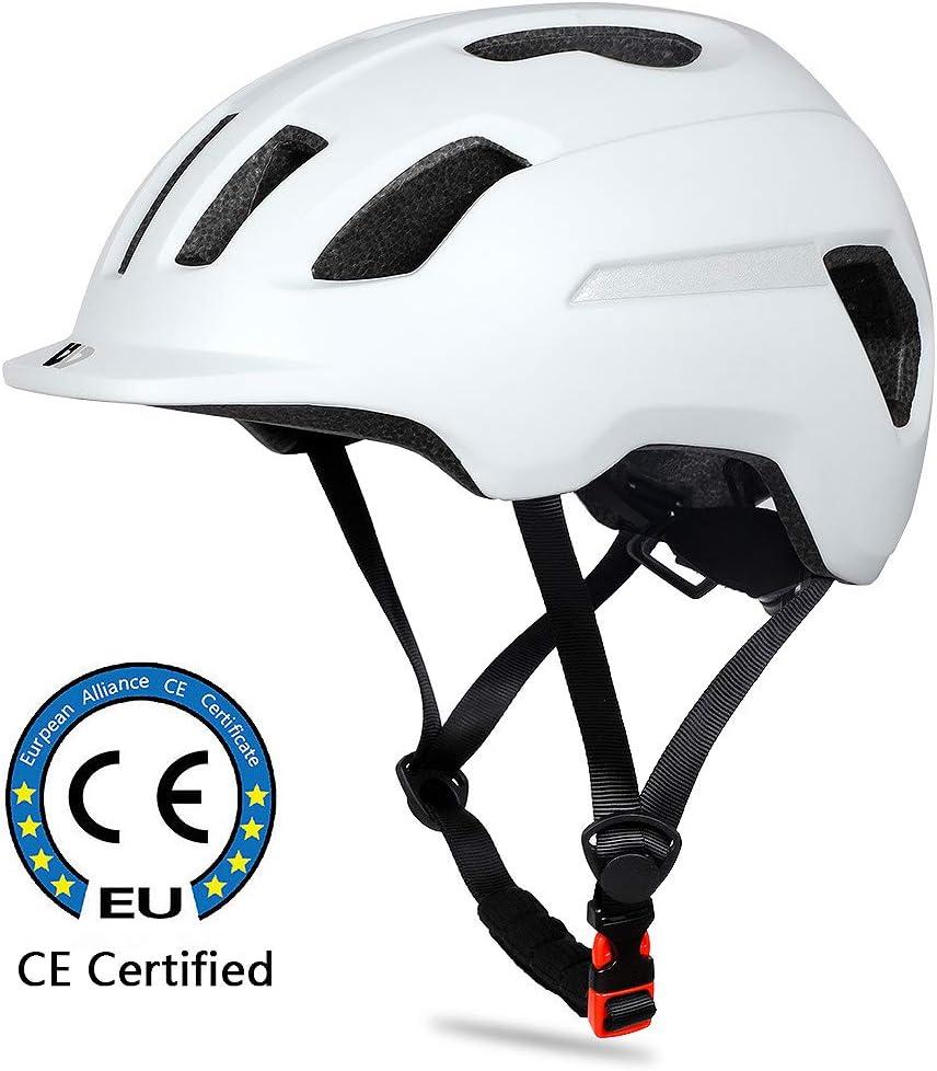 Scooter ICOCOPRO Urban Fahrradhelm f/ür Erwachsene Herren Damen Kinder Leichter Verstellbarer Atmungsaktiv Radhelm Mountainbike Helm mit Reflektierendem Streifen Und Abnehmbarem Liner f/ür Rennrad