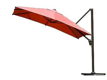Abba Patio 10 Feet Offset Cantilever Umbrella Outdoor Patio Umbrella Square  Parasol Infinite Tilt Position
