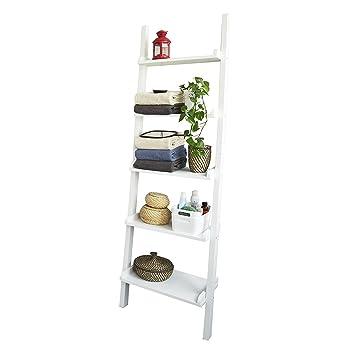 Venta Estanteria Ikea.Sobuy Moderna Estanteria Escalera Con Cinco Estantes En Color Blanco