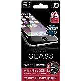 ELECOM iPhone 6s/6 液晶保護ガラスフィルム [3D touch ゴリラガラス0.4mm 最高硬度9H ラウンドエッジ加工] ブラック  PM-A15FLGGFLBK