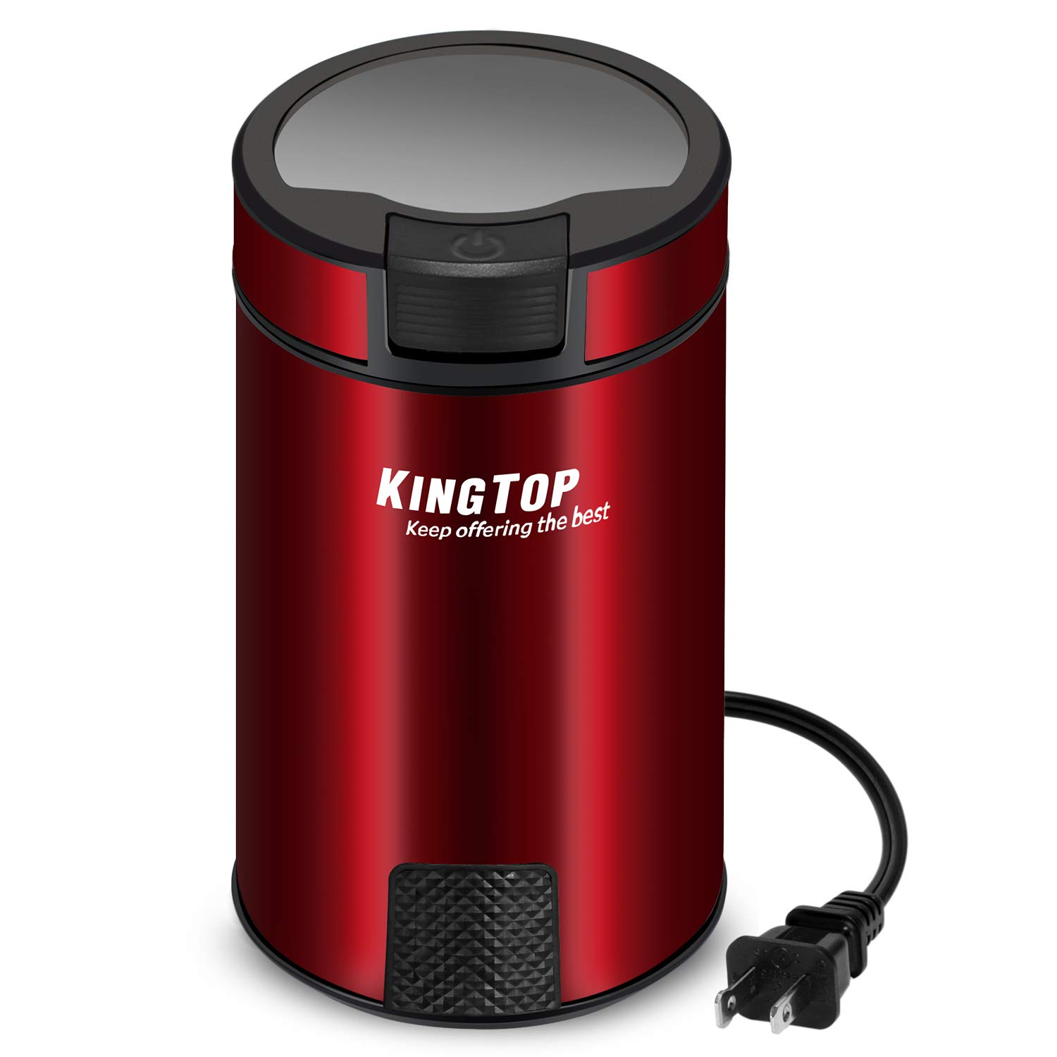 Coffee Grinder Electric 200W KINGTOP (Red) by KINGTOP