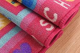 MBIGM Fashion Hopscotch Kids Carpet Bedroom, Sweet Pink Rug, Comfortable Children\'s Rugs (39\