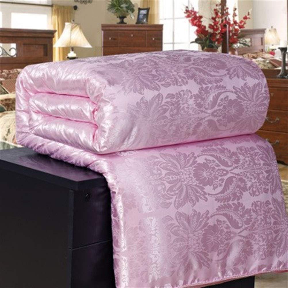 lila 180x220cm 4kg ZHANGYANTY Duvet Steppdecke, New Natural Luxury Silk Tröster Duvet Handgefertigte Twin Königin König Jacquard Decke Schlaf Quilt, for Winter-warme Bettdecke (Farbe   Rosa, Größe   200x230cm 2kg)