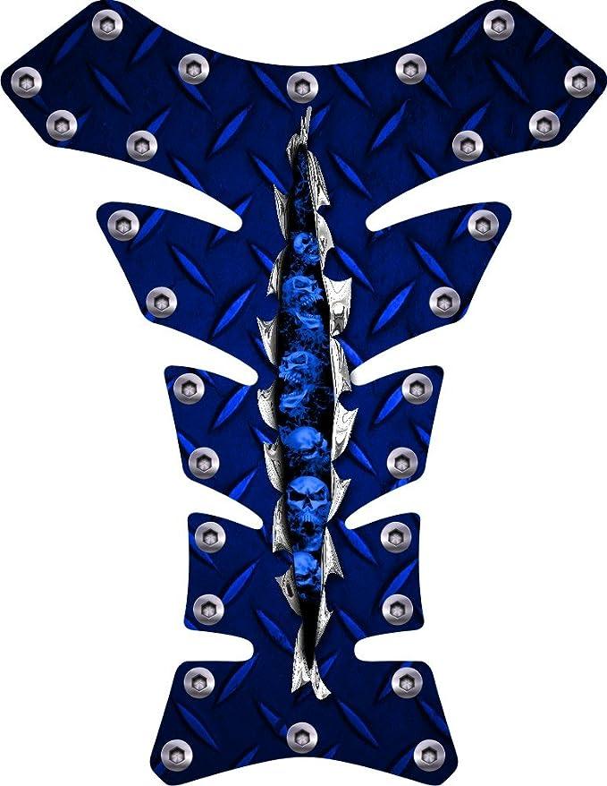 Amazon.com: Azul diamondplate Remaches de Calavera Rip ...