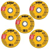 DEWALT DW8062B5 4-1/2-Inch by 0.045-Inch Metal and Stainless Cutting Wheel, 7/8-Inch Arbor, 5-Pack: more info