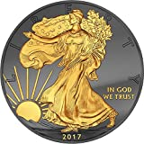 2017 United States Golden Enigma WALKING LIBERTY 1 Oz Silver Coin 1$ Dollar US Mint 2017 BU Brilliant Uncirculated