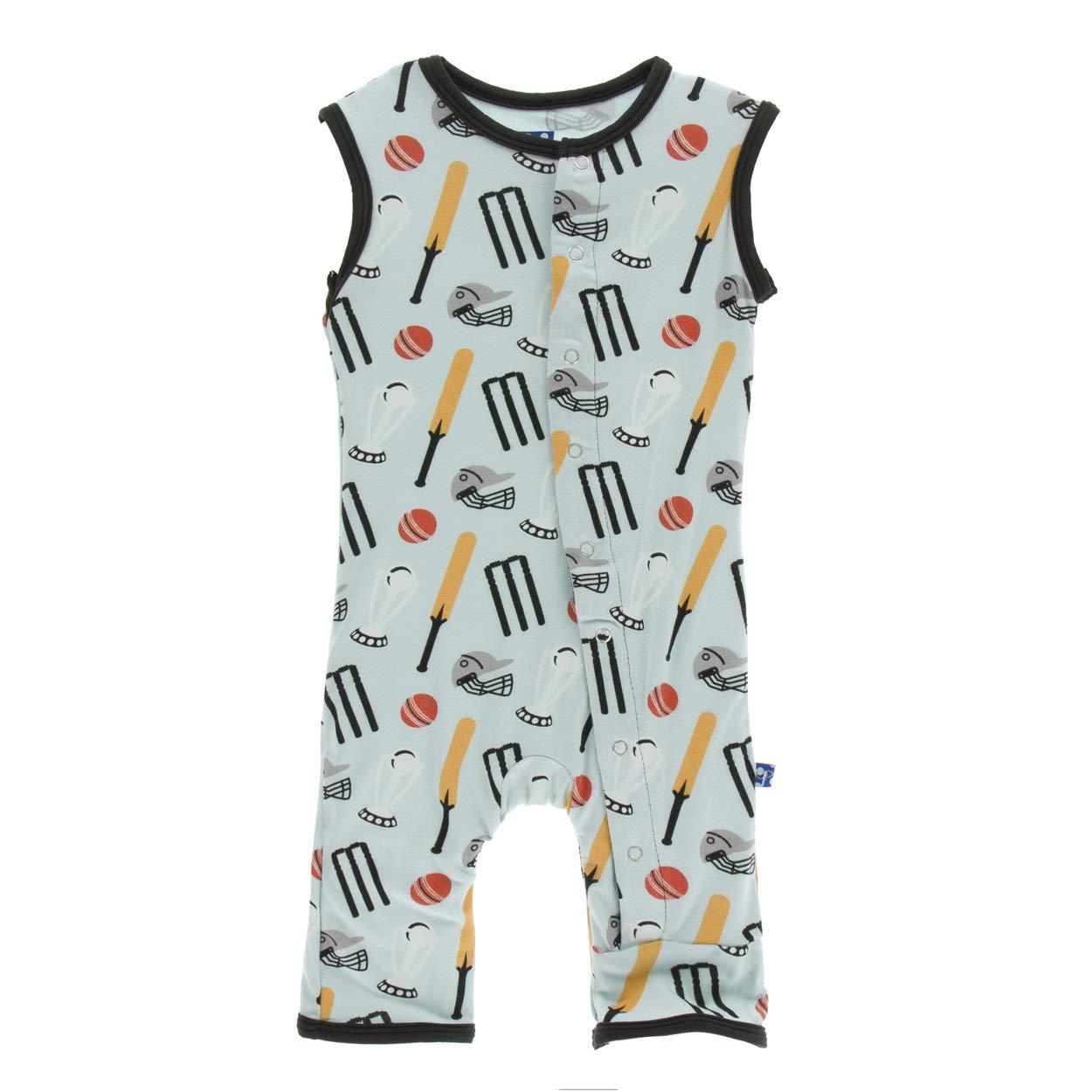 2T Spring Sky Cricket Kickee Pants Little Boys Print Tank Romper
