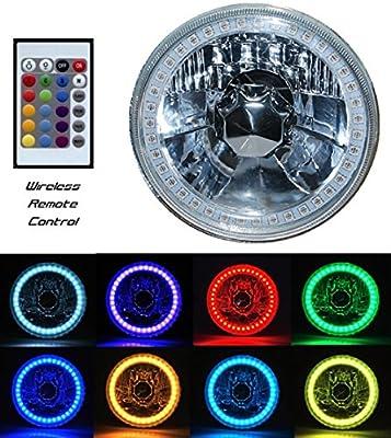 "OCTANE LIGHTING 5-3/4"" H5006 H5001 SMD RGB Multi-Color LED Halo Halogen H4 Light Bulb Headlight"