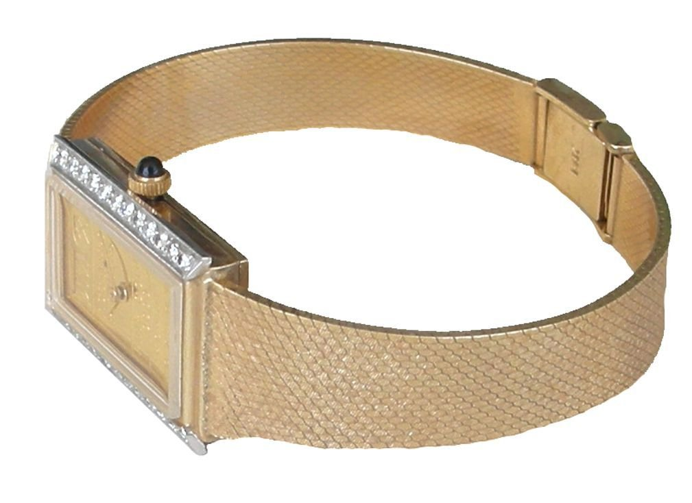 Johnson Matthey ''One of a Kind'' 14K Gold 5 Gram Ingot Ladies Watch With .50 ct Diamonds by RICH (Image #4)