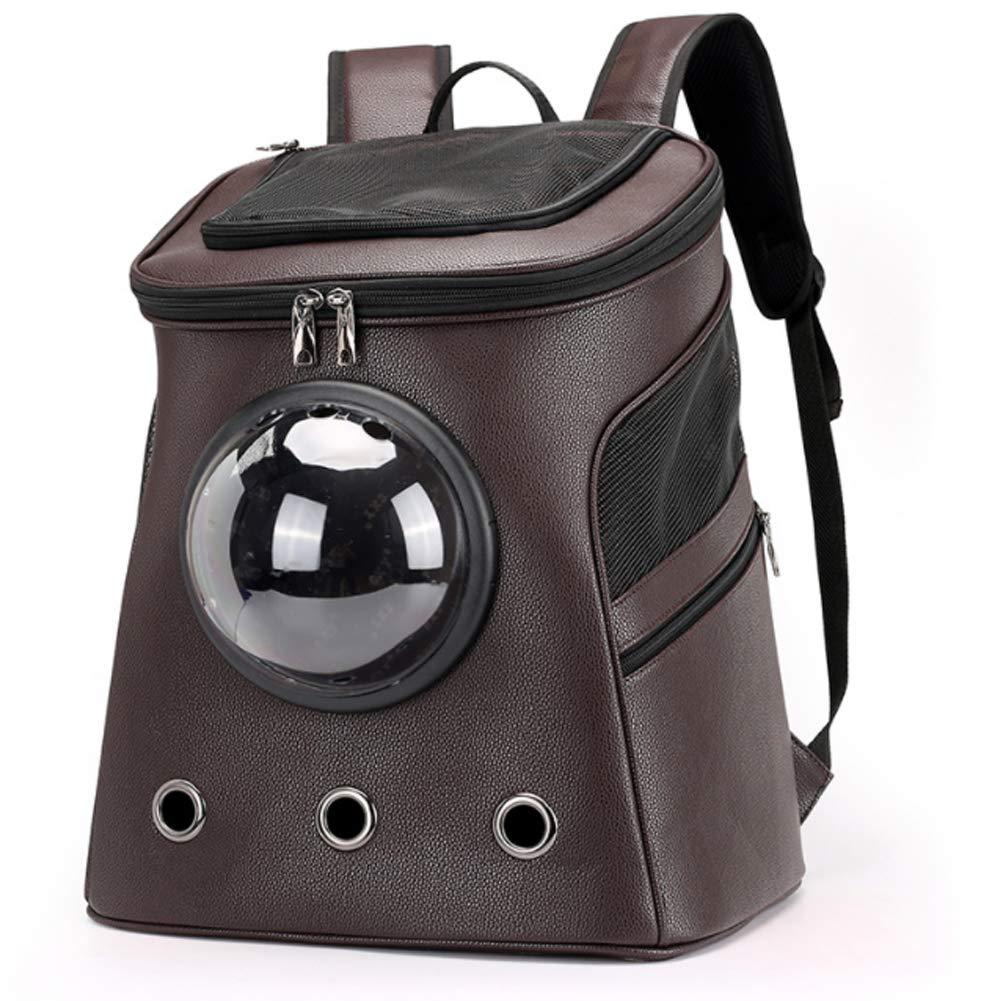 Brown Pet Backpack cat Space CapsuleBrown