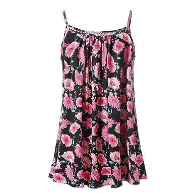 4c662c522375 Hengshikeji Women Summer Button Cami Tank Tops Vest Loose Blouse T-Shirt  Tunic Jumper for Teen Girls at Amazon Women's Clothing store: