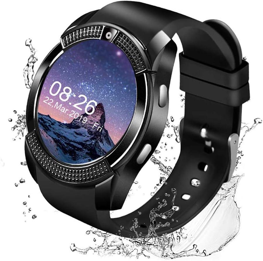 Littlejian Smart Watch,Bluetooth Smartwatch Touch Screen Wrist Watch with Camera/SIM Card Slot,Waterproof Smart Watch Sports Fitness Tracker Android ...