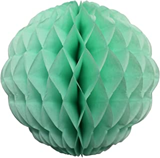 product image for 3-Pack 14 Inch Honeycomb Scalloped Tissue Ball Party Decoration (Mint)