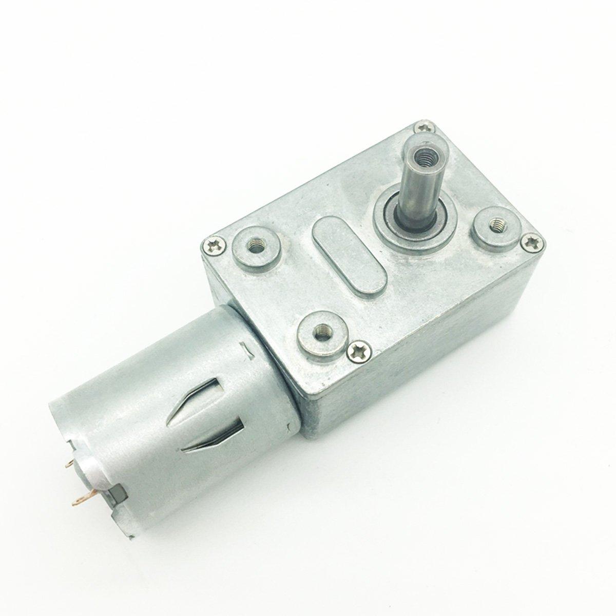Bringsmart JGY-370 12V 10rpm DC Worm Gear Motor 12 Volt High Torque Engine Mini Turbine Worm 6-24V Reducer Electric Motor Self-locking for DIY Mini Geared Motor (JGY-370 12V 10rpm)