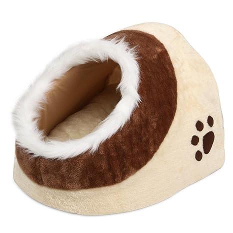 Yaheetech Casa de Gato Cama Cueva para Perros Mascotas 35 x 40 x 30 cm Suave