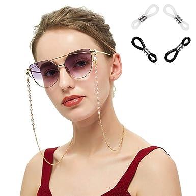 Xiang Ru - Cadena para gafas con perlas y correa para gafas ...