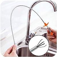 Drain Snake, Hair Clog Remover Reinigingsgereedschap 24,4 inch veerpijp Baggergereedschap Huishoudelijke haarreiniger…