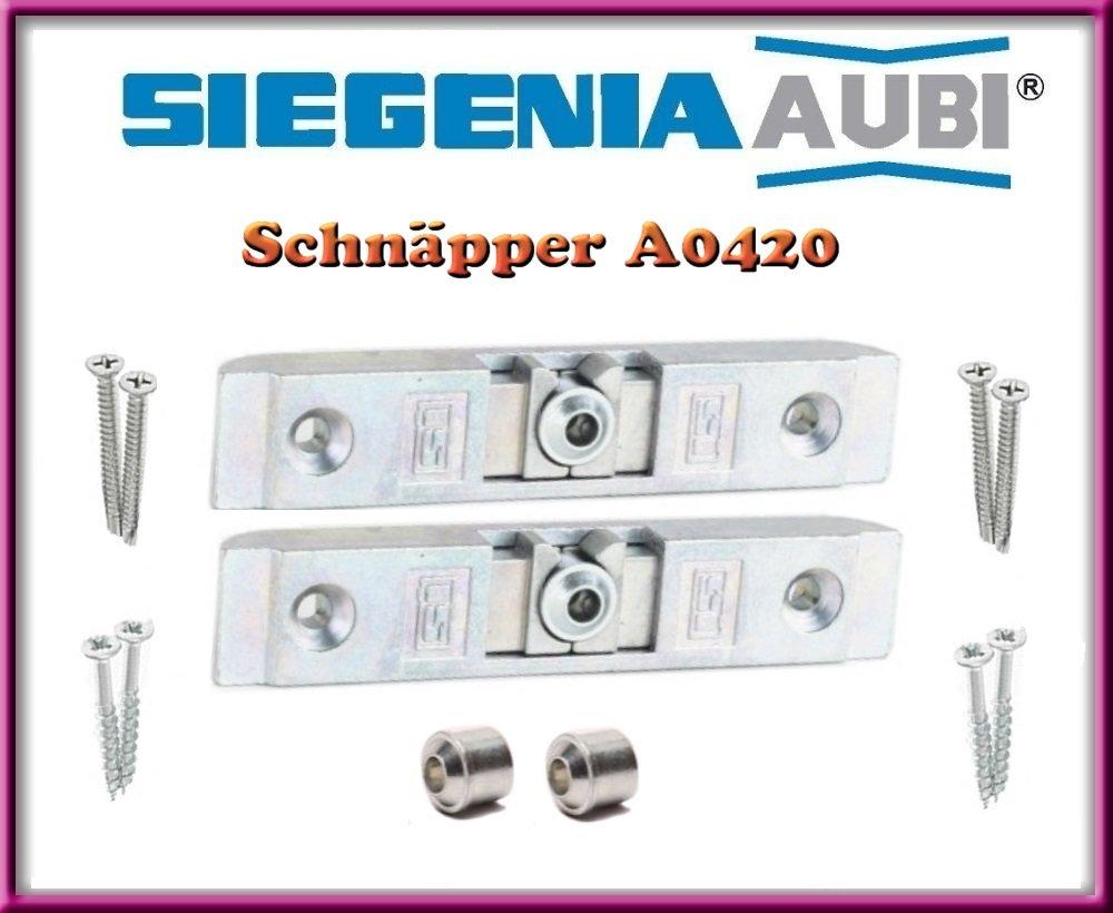 H/ülse Schrauben!! 2 X SI Siegenia Balkont/ür Terrassent/ür Schn/äpper A0420 // Schnaepper 0420 T/ürschn/äpper inkl 2 St/ücke!!!