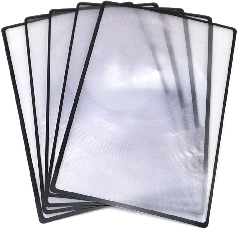 yueton 5pcs 3X Magnifying Lens Magnifier Fresnel Lens for Reading
