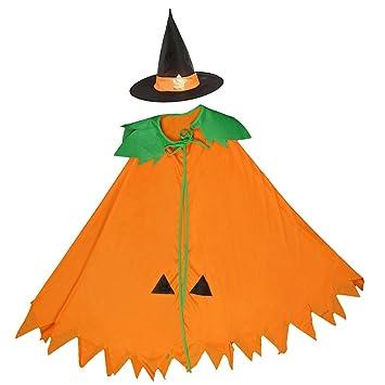 Magideal Halloween Kurbis Hexe Zauberer Umhang Karneval Fasching