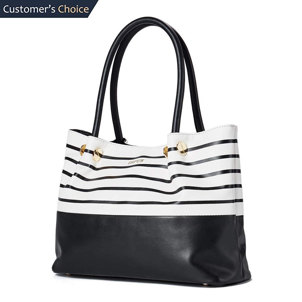 IBFUN Women Handbag Ladies Purse PU Leather Shoulder Bag Fashion Satchel Tote Bag