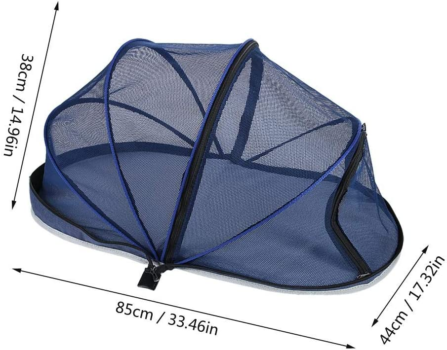 Foldable Camping Tents Portable Small Dog Travel Bed for Outdoor Indoor Camp Easy to Assemble 33.46 x 17.32 x 14.96inch Pet Tents