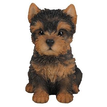 pet pals yorkshire terrier puppy ornament amazon co uk garden