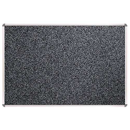 Balt / MooreCo - 321RB-96 - Bulletin Board, Black, RubberTak, 36inx24in