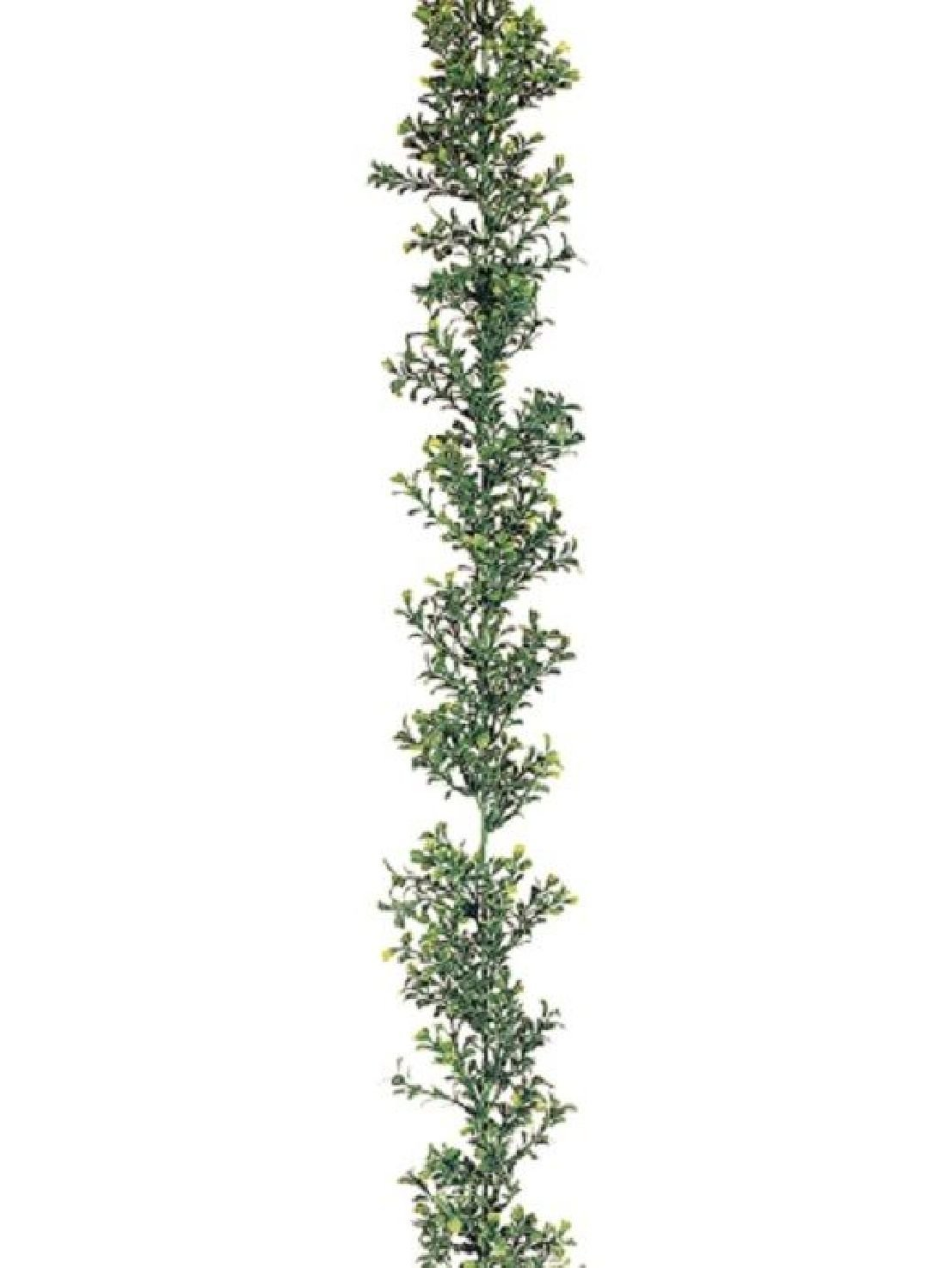 6' Artificial Boxwood Garland (Pack of 12) In Outdoor 72'' Silk Plant Decor by Black Decor Home