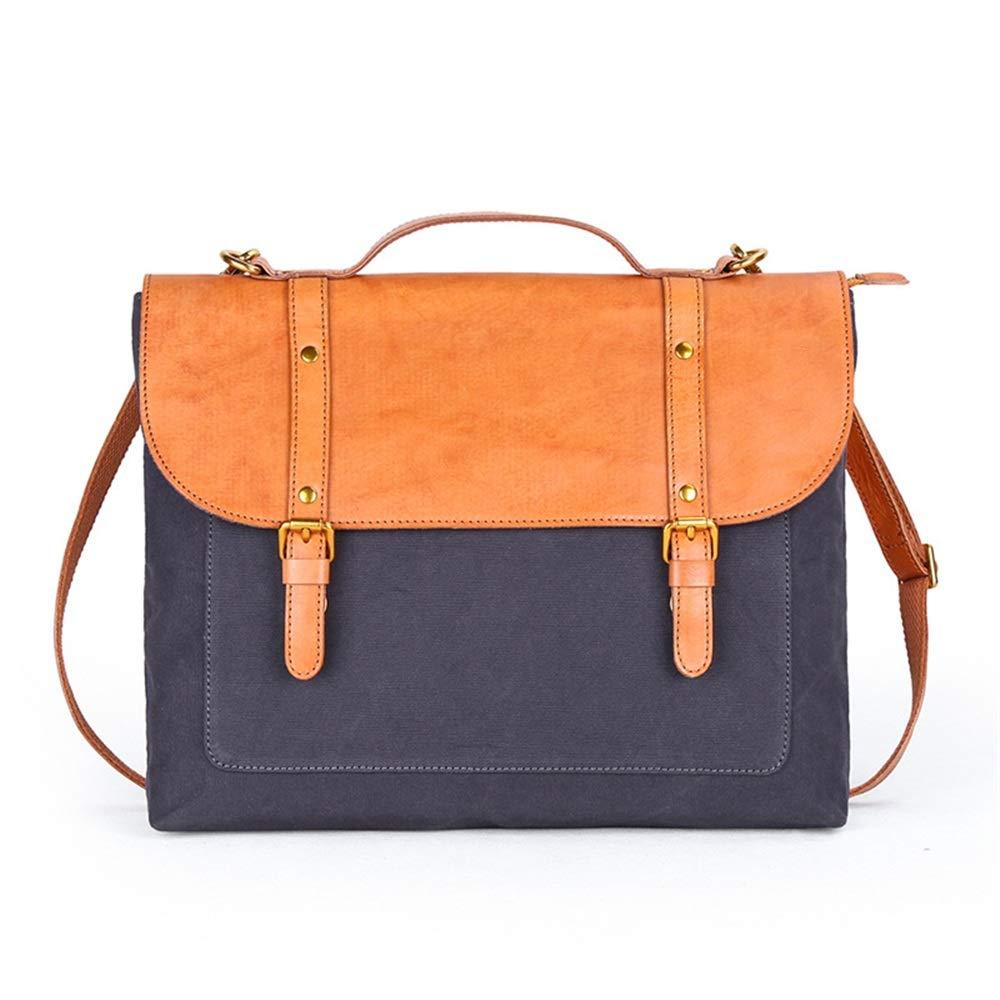 メンズビジネスバッグ 大学の男性と女性のブリーフケースショルダーハッチバックラップトップビジネスバッグに適して ビジネスブリーフケース (色 : 青) B07SH5XWYM 青