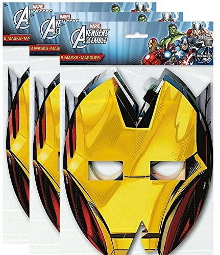 Marvel Avengers Assemble 8 ct Party Masks, 3 Pack]()