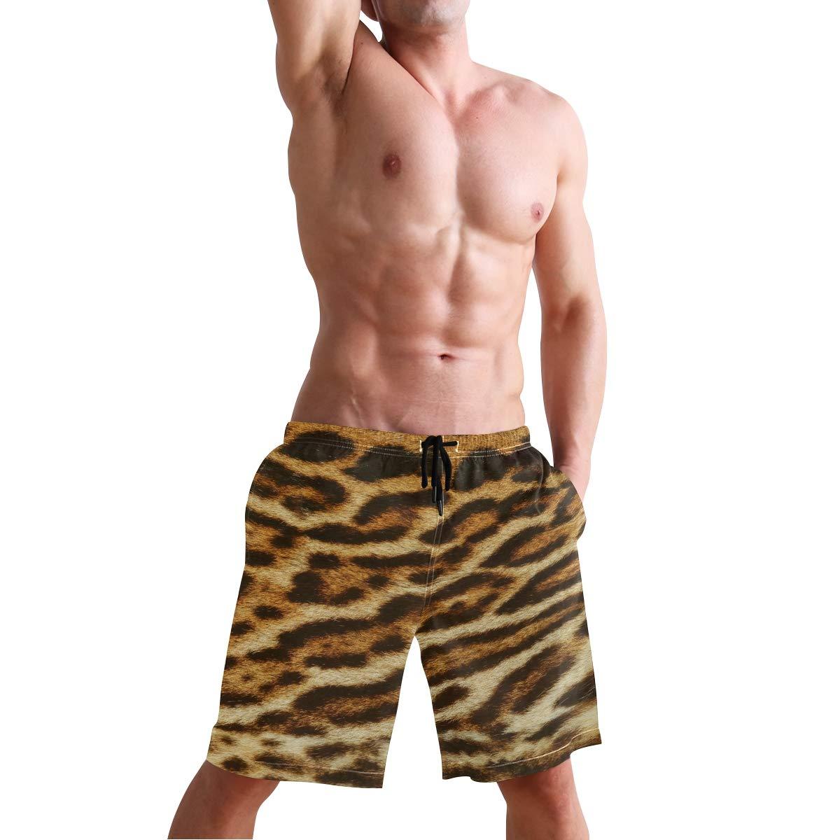 MALPLENA Fancy Animal Skin Mens Beach Shorts Board Shorts Mesh Lining