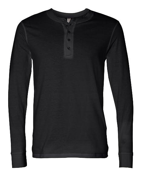 new style 58506 f42c9 Bella + Canvas Men's Jersey Long-Sleeve Henley